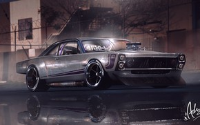 Picture Ford, Auto, Night, Machine, Car, 1966, Concept Art, Fairlane, Vehicles, Ford Fairlane, GT, Transport, Transport …