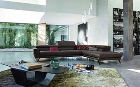 Picture Villa, interior, living room, Roche Bobois