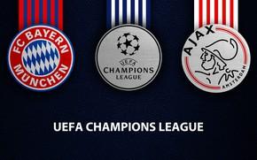 Picture wallpaper, sport, logo, football, UEFA Champions League, Ajax, Bayern Munich, Bayern Munich vs Ajax