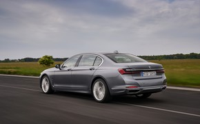 Picture BMW, sedan, in motion, four-door, G12, G11, 2020, 7, 7-series, 2019, full-size