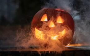Picture smoke, pumpkin, Halloween, Jack