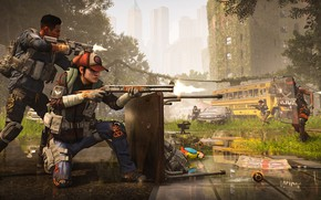 Picture war, soldiers, shootout, Tom Clancy's The Division 2