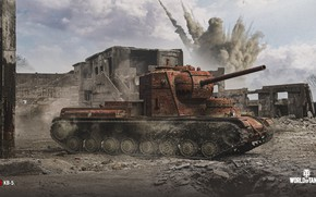 Picture the explosion, WoT, World of Tanks, Wargaming, KV-5