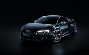 Picture Auto, Night, The city, Machine, Audi R8, Black, Sports car, Transport & Vehicles, Final Fantasy …