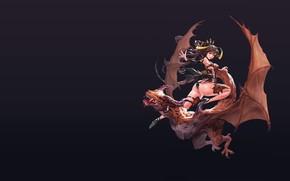 Picture dragon, rider, fantasy, art, old work, hyunjoong .