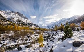 Picture winter, nature, Switzerland, Alps, снежная гора