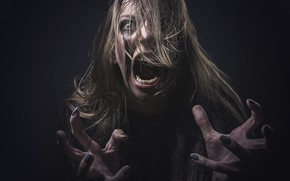 Picture hysteria, creepy, make up, screams
