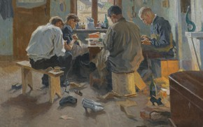 Picture 1915, THE SHOEMAKERS, Arnold Borisovich Lakhovsky