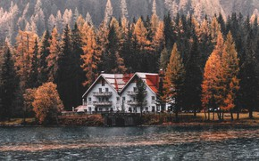 Picture Water, Nature, Lake, Trees, Mountain, Forest, House, Landscape, Nature, Landscape, Water, Mountain, Building, Lake, Trees, ...