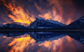 Picture the sky, mountains, Canada, Canada, Banff, John S, Vermilion Lake