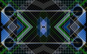 Picture line, figure, symmetry