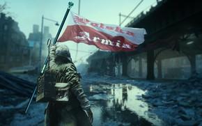 Picture people, flag, Battlefield V