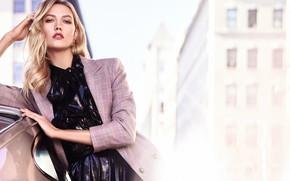 Picture look, girl, pose, street, model, jacket, Karlie Kloss