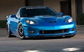 Picture ZR1, Chevrolet Corvette, Blue car