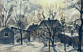 Picture 1947, Charles Ephraim Burchfield, Winter Sun and Backyards