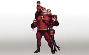 Picture Minimalism, Figure, Art, Cartoon, The Incredibles, The incredibles, InHyuk Lee, by InHyuk Lee