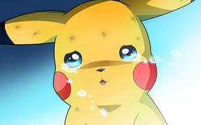 Picture Pikachu, tears, Pokemon, crying, Pokemon