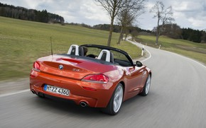 Picture trees, speed, BMW, Roadster, 2013, E89, BMW Z4, Z4, sDrive35is