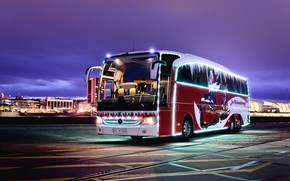 Picture new year, mercedes benz, bus, coach, travego