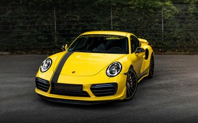 Picture yellow, coupe, 911, Porsche, front, 991, Manhart, 911 Turbo S, 2020, 991.2, 850 л.с., TR …