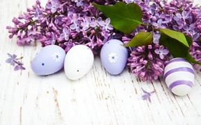 Picture branches, eggs, spring, Easter, lilac, composition, Olena Rudo