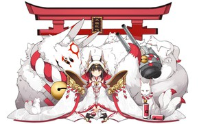 Picture anime, girl, beast
