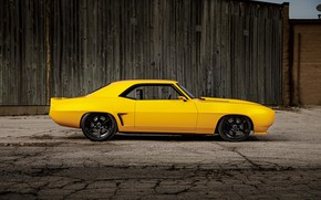 Picture Chevrolet, Muscle, Camaro, Inferno, Yellow, Custom