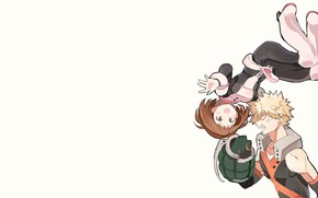 Picture levitation, Boku no Hero Academy, My Hero Academia, Uraraka Ochako, Bakugou Katsuki, Kacchako, My Hero …