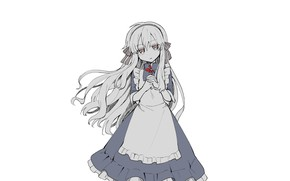 Picture white, background, girl, Kagerou Project