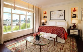 Picture London, interior, the hotel, bedroom, luxury suite in Central London