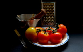 Picture background, tomatoes, grater