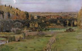 Picture 1889, Nesterov, Mikhail Vasilyevich, The Surroundings Of Abramtsevo