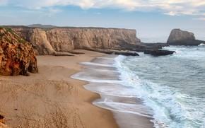 Picture California, Santa Cruz County, Panther Beach