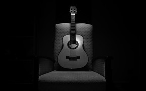 Picture music, guitar, chair