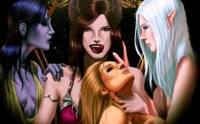 Picture fantasy, girls, vampires