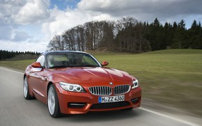 Picture field, forest, BMW, Roadster, roadside, 2013, E89, BMW Z4, Z4, sDrive35is