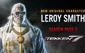 Picture man, glasses, Tekken 7 Fated Retribution, Leroy Smith
