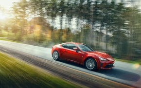 Picture road, forest, transport, car, Toyota 86