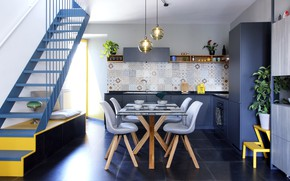 Picture design, style, interior, kitchen, ladder, dining room, by OFFLINE-officina d'architettura, Casa Lo-Fi 2.0-20