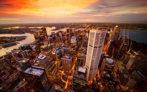 Picture building, home, panorama, skyscrapers, Australia, Sydney, Sydney Australia