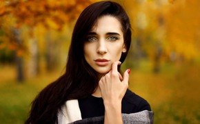 Picture look, hair, portrait, Girl, lips, Denis Lytkin