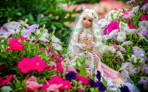Picture doll, blonde, Petunia