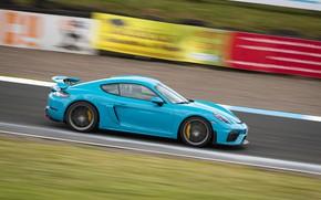 Picture Porsche, Speed, Profile, Cayman, Track, GT4, 2019, Porsche 718 (982) Cayman GT4