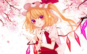 Picture flowers, spring, girl, Touhou, Touhou