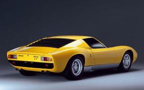 Picture Lamborghini, Classic, Miura, Classic car, Lamborghini Miura P400 SV, One thousand nine hundred seventy one