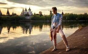 Picture water, model, Girl, balalaika, Kseniya Kokoreva, Ksenia Kokoreva, Yuri G See Also: