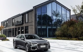 Picture auto, Audi, street, mansion, quattro, TFSI, A6L