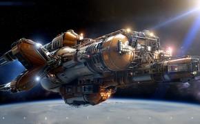 Picture space, planet, stars, camera, KITBASH Ship PAUL PEPERA Homenaje