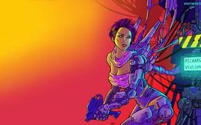 Picture Girl, Minimalism, Robot, Style, Robot, Style, Fiction, Neon, Cyborg, Illustration, Minimalism, Cyborg, Characters, Cyberpunk, Synth, …