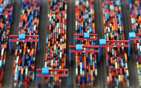 Picture Port, The view from the top, Terminal, Cargo, Container, Container terminal
